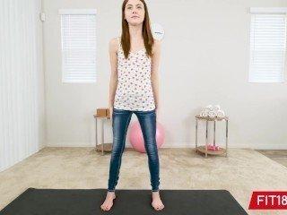 FIT18 - Hannah Hays - 43kg - Creampie A Skinny Country Girl - 60FPS