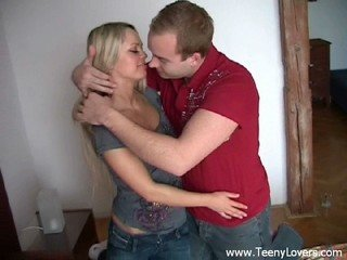 Bitchy blonde teeny gets nailed