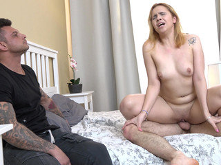 Redhead gf fuck for rent money